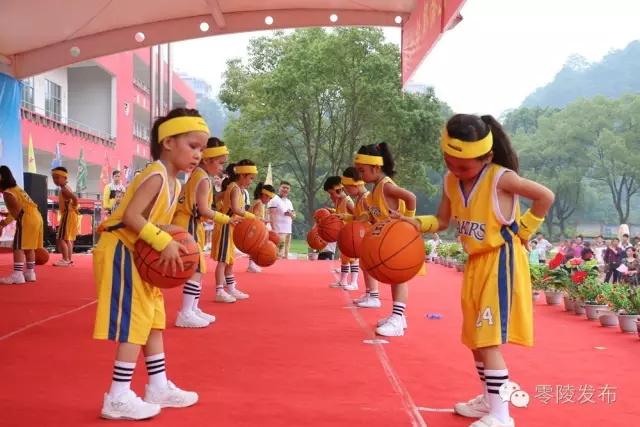 零陵区民办幼儿园幼儿韵律操大赛在